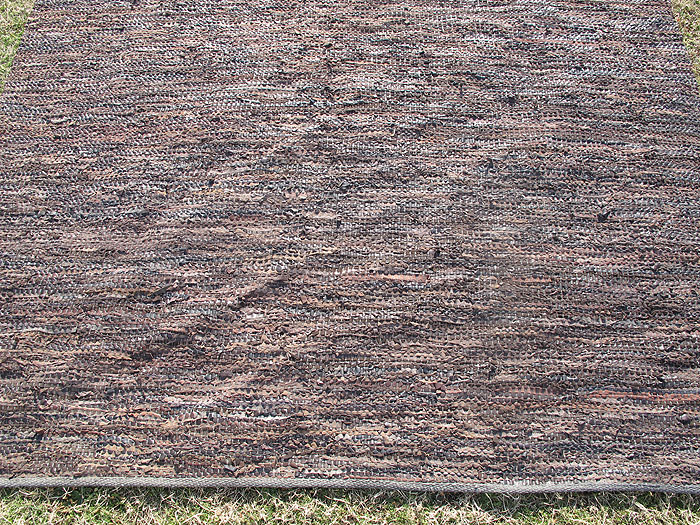 Vintage Capel Leather Rag Rug Woven Carpet 11u0026#39;x8u0026#39; ORIG ...
